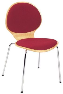 Cafe-Chair-Wood-Stained-with-Upholstered-Seat-and-Back