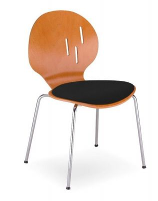 Designer-Cafe-Chair-Round-Back-Upholstered-Seat-and-Chrome-Legs