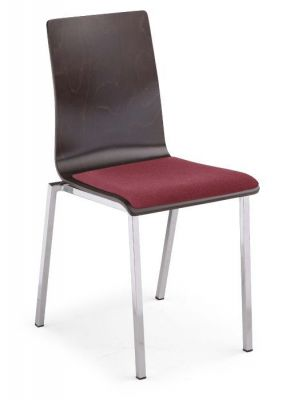 Designer-odern-Cafe-Chair-Upholstered-Seat-and-Plywood-Chair