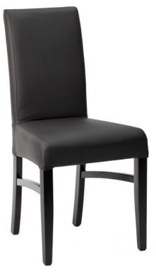 Faux-leather-Dining-Chair-with-High-Back-and-Wood-Finish-Legs