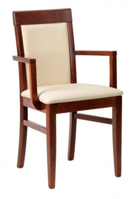 Leather-Dining-Chair-Complete-with-Arms-and-Fully-Upholstered-Back-and-Seat-in-Faux-Leather
