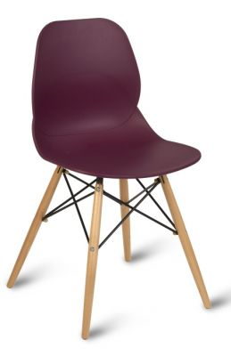 Plum Colour Poly Seat Multipurpose Chair