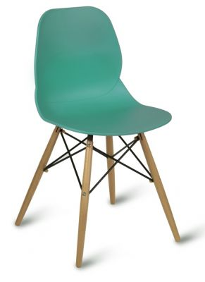 Vinrant Polypropelene Designer Chair With Beech Wood Legs