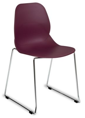 Poly Plastic Seating Bright Colours With Chrome Skid Base
