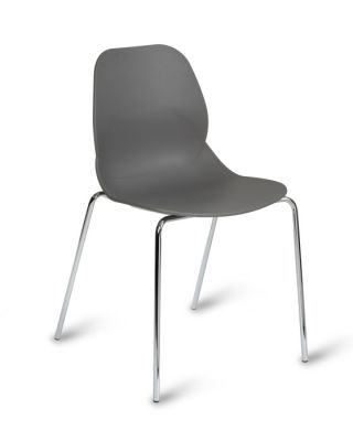 Colour Bucket Polypropelene Seating With Polished Chrome Legs