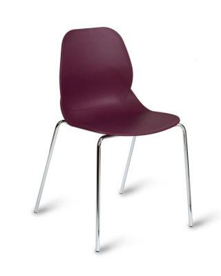 High Density Black Poly Chair With Chrome Legs