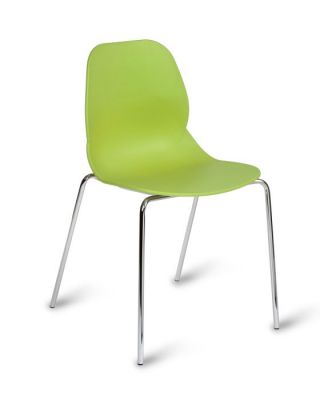 Lime Green Polyproplene Seating With Chrome Frame