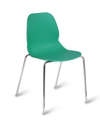 Vibrant Poly Plastic Seating With Chrome Frame
