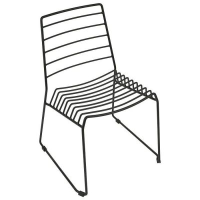 Black Steel Wire Frame Seating