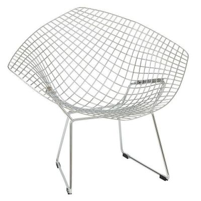 Designer Chrome Wire Frame Seating Inspired By Harry Bertoia