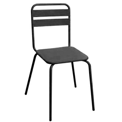 Black Powder Coat Industrial Style Side Chair