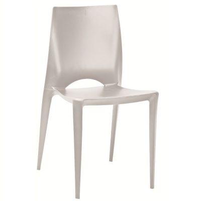 Light Grey Stylish All Over Polypropelene Chair