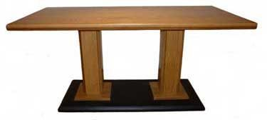Rectangular Oak Wood Dining Table