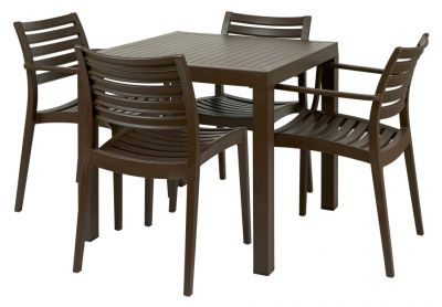 Dining Seat Outdoor Polypropelene Furniture In Black Or Brown