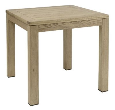 Square Bulky Outdoor Use All Wood Table Robina