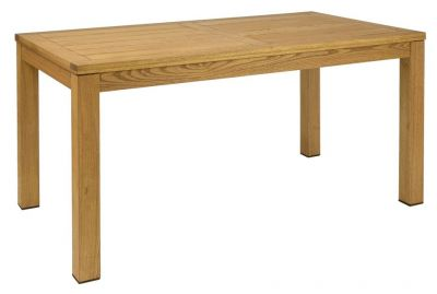 Outdoor Chunky Rectangular All Wood Table Robina Wood Oiled Finish