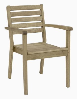 Weathered Finish Stacking Outdoor Robina Wood Armchair