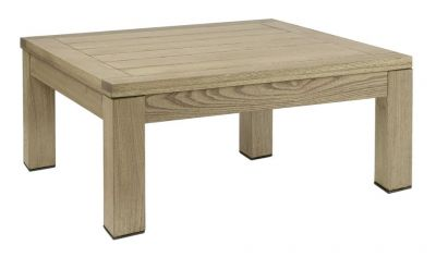 Outdoor Coffee Table Square Robina Wood Weathered Grey