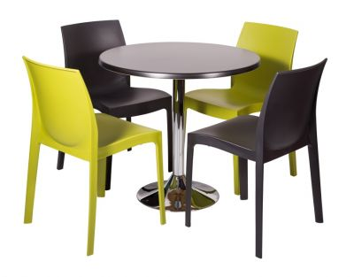 Poly Bistro Set With 800mm Round Werzalit Cafe Table