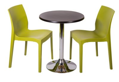 Two Poly Bistro Chairs And Werzalit Table