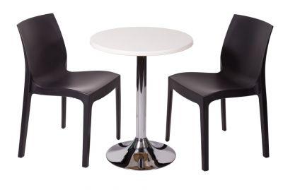 Black Polypropylene Seating With Werzalit Cafe Table