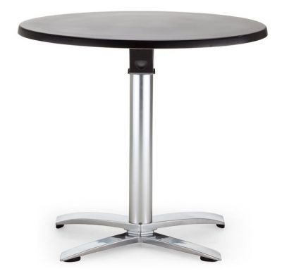 Flip Top Aluminium Table With Round 800mm Werzalit Top