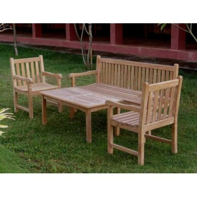 Outdoor Teak Coffee Dining Set
