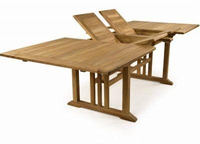 Double Extending Teak Table