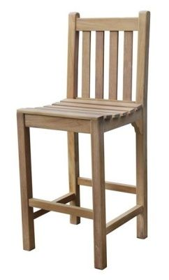 Outdoor Teak High Stool