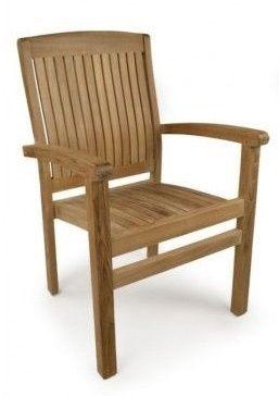 Outdoor Teak Armchair Stackable