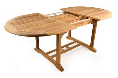 Extendable Outdoor Teak Table Large
