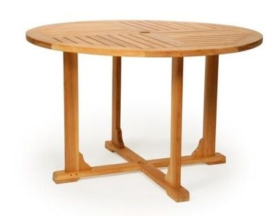 Round Fixed Outdoor Teak Table