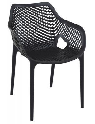 Black Outdoor Polypropylene Chair