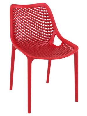 Red Glass Fibre Poly Chair Outdoot