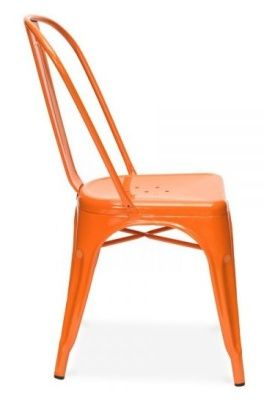 Tollix V3 Chair In Orange Side View