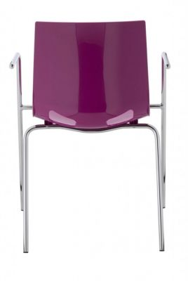 Margo Armchair Purple Rear View