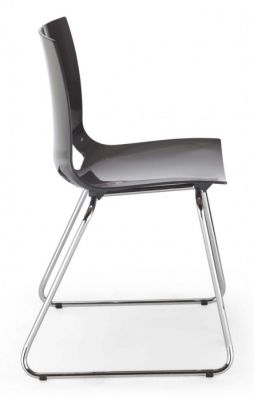 Margot Chair Anthracite With Sled Frame Side View