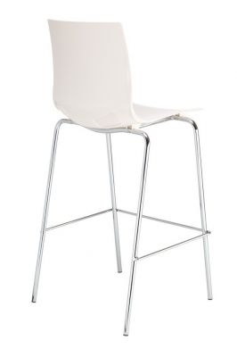 Margo High Stool White Seat Rear View