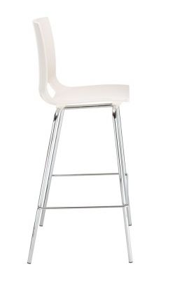 Margo High Stool White Seat Side View