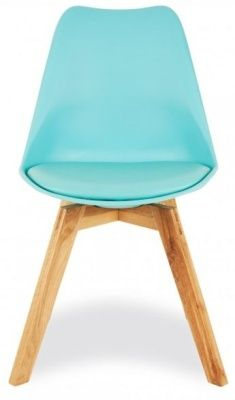 Deko Dining Chair With A Light Blue Seat Facing
