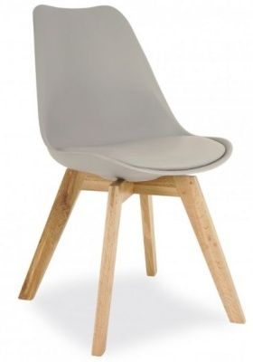 Deko Dining Chair With A Grey Seat Front Angle