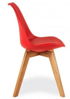 Deko Dining Chair With A Red Seat Side View