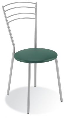 Rossi Metal Bistro Chair Green Seat