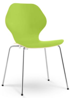 Piazza 3 Chair Lime Green Laminate