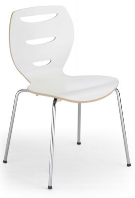 Lania Laminated Cafe Chyair In White