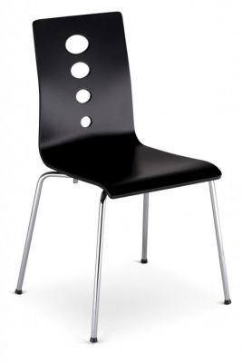 Sobo Laminated Cafe Chair In Wenge