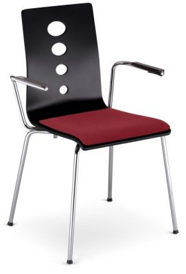Sobo Cafe Armchair With An Upholstered Seat