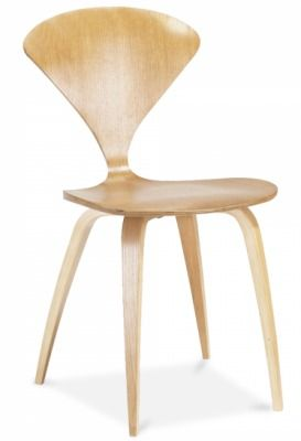 Cherner Dining Chair In Light Oak Front Angle