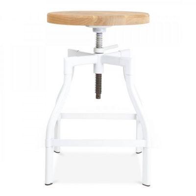 Machinist Stool In White