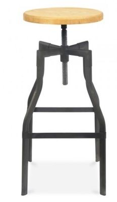 Tall Machinist High Stool With A Black Frame